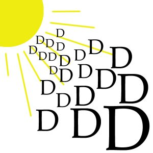Sunshine provides a great source of Vitamin D